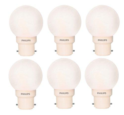 Philips Deco Mini 0.5-Watt B22 Base LED Bulb (White and Pack of 6)