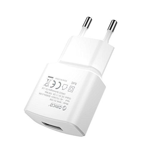 ORICO - 10W Mini USB Ladegerät 100-240V Wall Charger für iPhone, iPad, Samsung Galaxy, Nexus, HTC, Motorola, LG und weitere (Weiß)