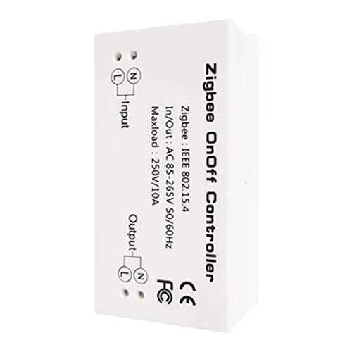 Dyda6 Smart ZigBee Light Switch Controller für Echo Plus und kompatiblen ZigBee Bridge-Hub zur Steuerung von Normallichtern, LED-Downlights Smart Home Automation(White)
