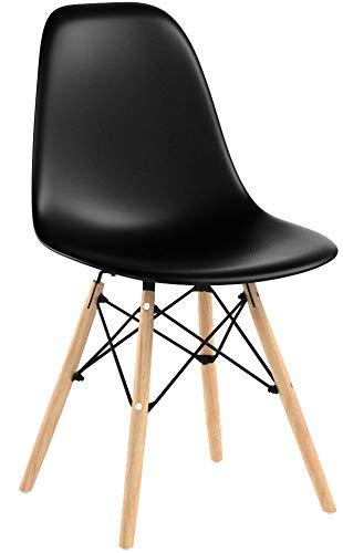 Naturelifestore Set de 4 sillas de Comedor de Estilo Moderno de Mediados...