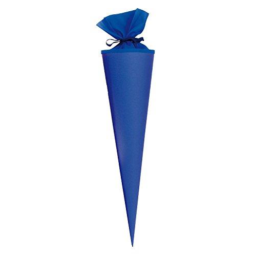 Goldbuch Bastelschultüte, Rohling zum Selbstgestalten mit Filzverschluss, 70 cm, Blau, 97825