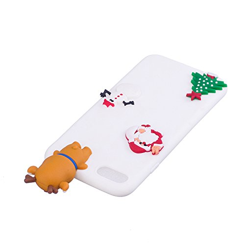 iPhone 7 Hülle, Iphone 7 Hülle Silikon, 7 Hülle Case, SpiritSun Handyhülle Iphone7/8 plus Etui Protective Case Cover TPU Silikon Softcae Fall Backcover Case Handy Schutzhülle Slimcase Motiv Weihnachte Weißer Bär