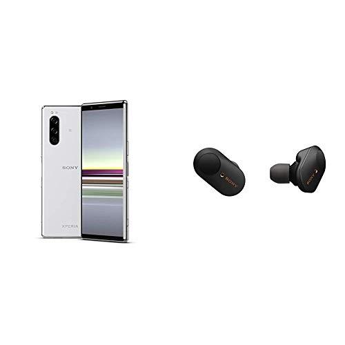 """Sony Xperia 5 Smartphone, Display 21:9 da 6.1"""" FHD+ HDR OLED, Fotocamera con Tre Obiettivi e con Eye AF, 6 Gb di RAM, 128 GB, Grigio + Promozione Preordine: Auricolari Wireless Sony WF-1000XM3"""