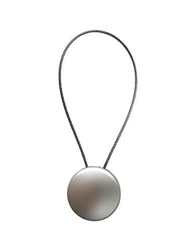 Magnet Clip - Dekomagnet - Ø 28 mm mit Drahtschlaufe - z.B. zum Raffen von Gardinen, Edelstahl