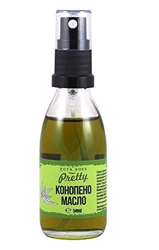 Aceite de cáñamo orgánico - Zoya Goes Pretty - 50 ml. Para pieles crónicas secas y desnutridas. Base de aceite para varias mezclas; Aditivo para productos cosméticos;