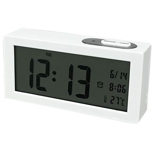 Clock- Wecker Stumm QualitäT Hd Bildschirm Elektronische Digitale Kreative Einfache Dekoration Schlafzimmer Nachttisch BüRo Studie Student Kunststoff Schwarz 6 Zoll 01
