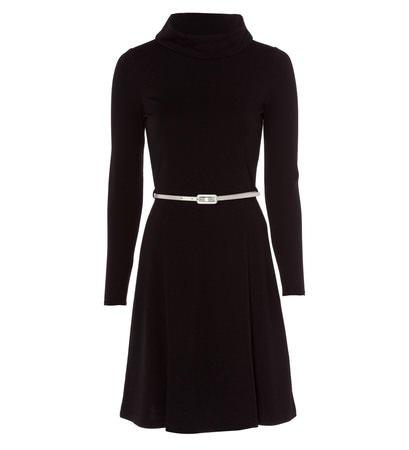 zero Damen Kleid mit Turtleneck 313903 black 42