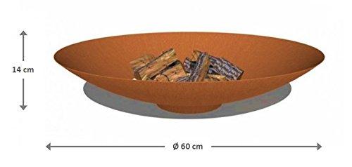 Brasero acier Corten Acier Ø 60 cm