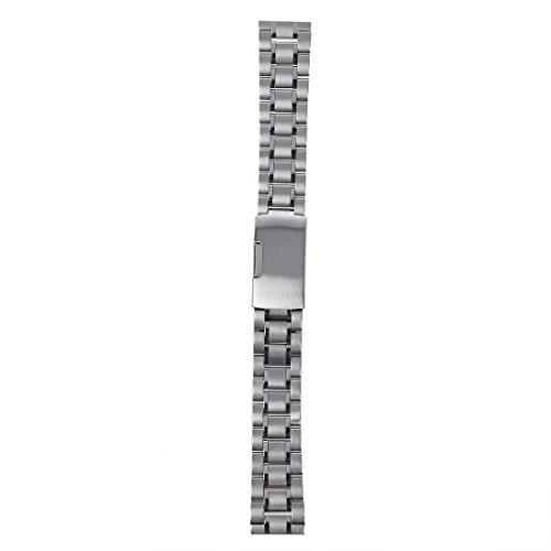 Sodial 18 mm Venda De Reloj De La Correa De Acero Inoxidable Solido Con Hebilla Del Despliegue - Color...