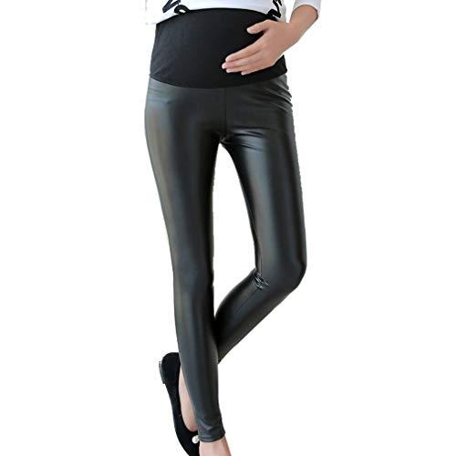 2694effc10e3 Pantaloni Premaman Donna Nero PU Pelle Elastico