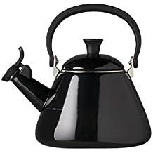 Le Creuset Kone Kettle with Whistle, 1.6 L - Black