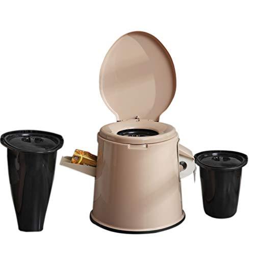 LIU UK Portable Toilet Gabinetto da Toilette Compatto Portatile con Cestino Lavabile E Portarotolo per La Festa in Piscina Camping Caravan Picnic