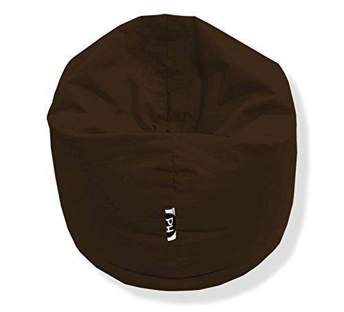 Sitzsack 100cm Durchmesser 2 in 1 | Braun - 300 Liter in 25 Farben und 3 versch. Größen