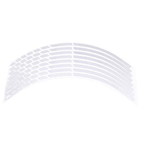 Motorrad Auto Radnabe Reifen Aufkleber Auto Dekoratives Styling Strip Decals Aufkleber (Silber)