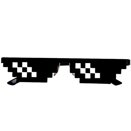 Jouets de décompression Fluffy Floam, Manadlian Lunettes de vie Thug Deal de 8 bits Pixel avec des lunettes de soleil IT Jouet de lunettes de soleil unisexe (noir2)