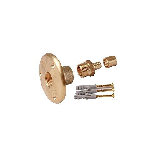 Applique sortie de cloison laiton à glissement - PER Ø 12 mm - F 1/2 - Watts industrie