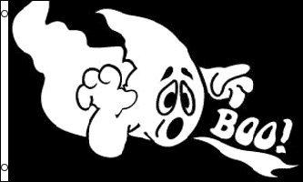 TOME Boo 150x 90cm–Flagge Halloween Ghost 90x 150cm–Flaggen–AZ Flag (Fantome Halloween)