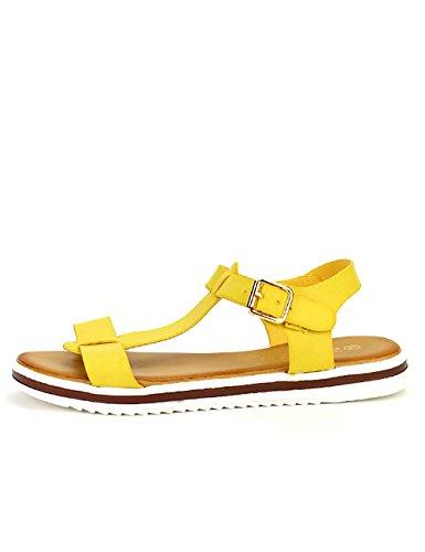 Cendriyon Sandale Jaune Stephan Mode Chaussures Femme Jaune