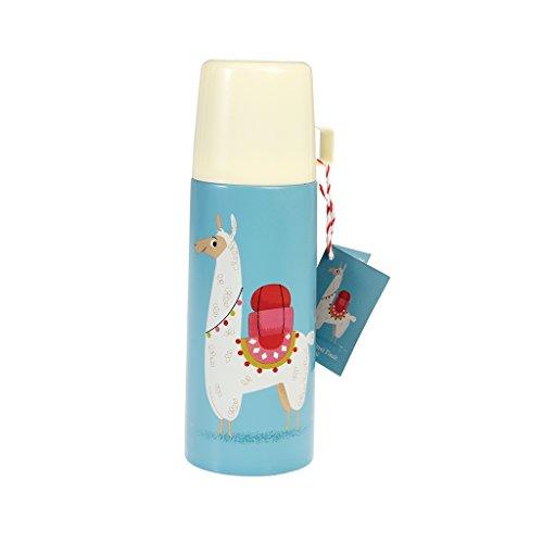 Rex London Lama Design Kinder Edelstahl-Thermoskanne und Tasse