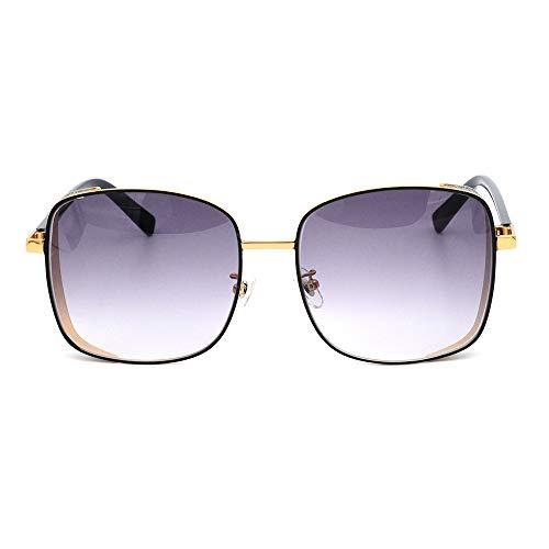 Mode Sonnenbrillen Frauen,Klassisch Oval Ultraleicht Vintage Half Rim Metallgläser Funktion UV-Schutz Federscharnier Für Herren Und Damen,c1