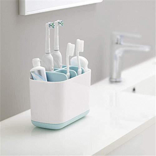 Zahnbürstenhalter Zahnpastahalter für Badezimmer Zahnpastamanager Abnehmbar \U0026 Praktische Aufbewahrungsbox, Golden_flower
