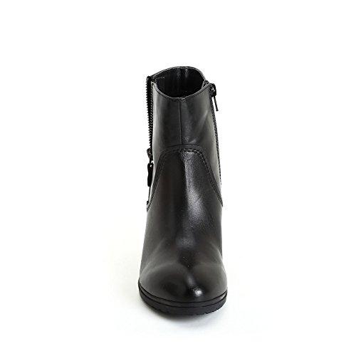 Alesya Par Shoes & Shoes - Bottines Hautes À Glissière Latérale Et Clous, En Cuir Noir