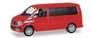 Herpa 028738-002 VW T6 Multivan - Juego de Modelos, Color Rojo