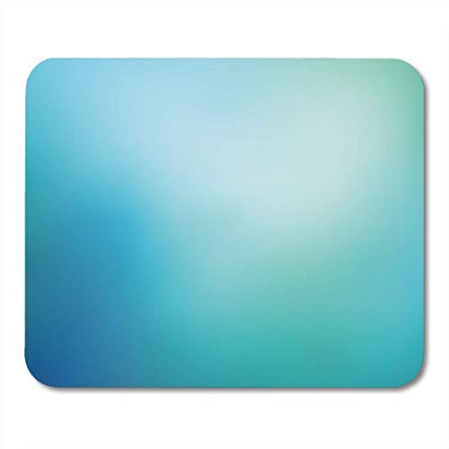AOHOT Mauspads Green Turquoise Smooth and Blurry Colorful Gradient Mesh Bright Blue Colors Easy Colored Premium Teal Mouse pad 9.5