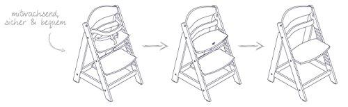 roba Treppenhochstuhl Sit Up III, mitwachsender Hochstuhl vom Babyhochstuhl bis zum Jugendstuhl, Holz, naturfarben - 5