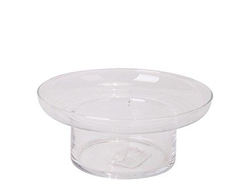 - Glasschale Windlicht perfekte Tischdekoration für Schwimmkerzen H7/Ø16 cm