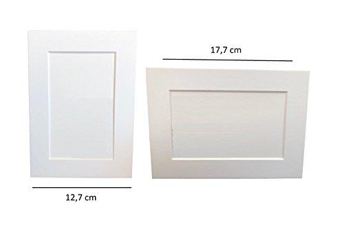 CRYSTAL KING Set aus 10 Stück Fotorahmen Zum Bemalen hinstellen Bilderrahmen Weiß Karton Rahmen Kinder Basteln Bilderrahmen Gestalten Rahmen mit Standfüßen