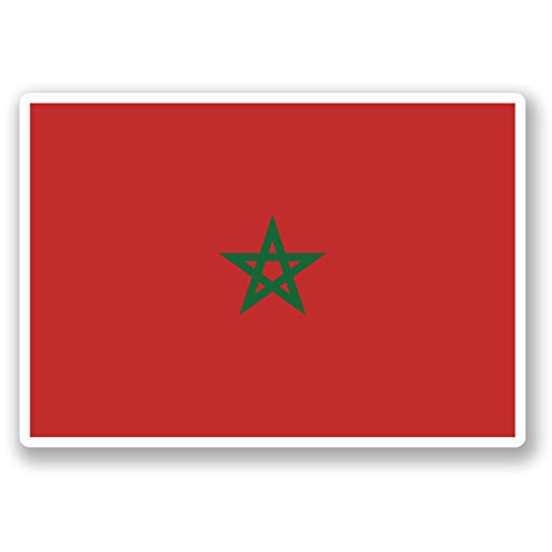 Price comparison product image 2 x Morocco Vinyl Sticker Luggage Travel iPad Laptop Map Flag Car Decal 5406 (10cm Wide x 7cm Tall)