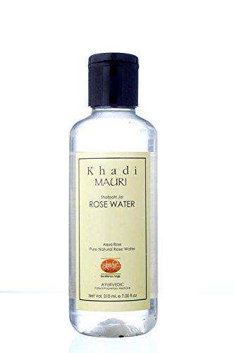 KHADI Rose Water - Herbal Skin Toner & Natural Cleanser Gulab Jal - 210 ml