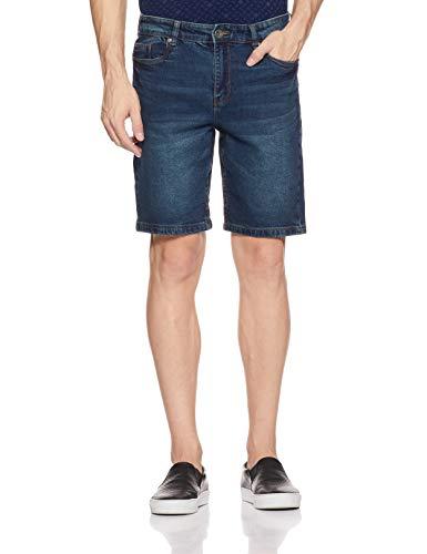 Amazon Brand - Symbol Men's Relaxed Fit Shorts (AD-SHR-256_Dark Blue_38)