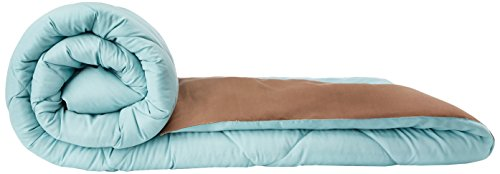 Solimo Microfibre Reversible Comforter, Single (Sky Blue & Taupe Grey, 200 GSM)