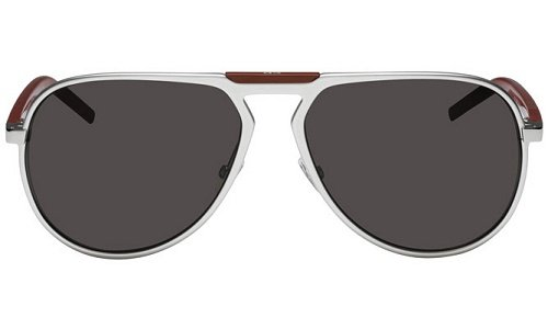 Dior Homme Lunettes de soleil Al13.2 Pour Homme Silver / Aluminium / Red / Brown Grey