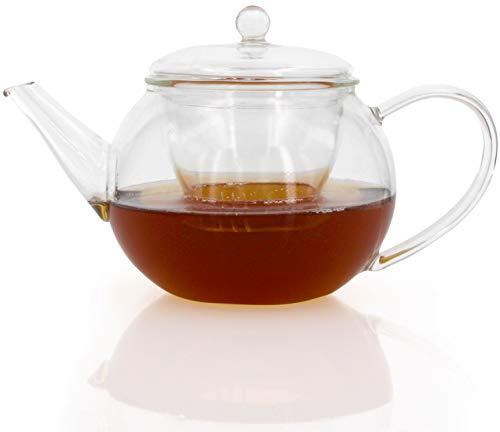 Tee Kanne Teekanne Tee Tea mit Glas Sieb Borosilikatglas 600 ml