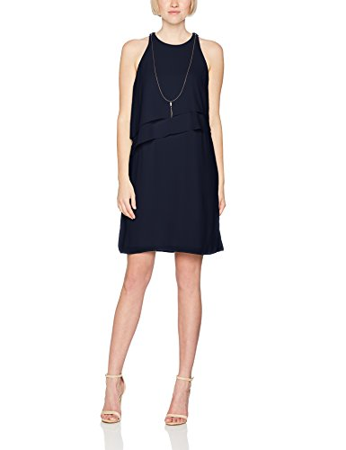ESPRIT Collection Damen Kleid 047EO1E031, Blau (Navy 400), 36
