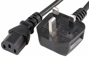 DabbersIT UK 2m Kettle Lead C13 PC Computer Power Cable