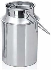e-Global 2 Litre Stainless Steel Milk can - A Grade Steel - Cap Locked - USE for - Oil BURNI/GHEE WADI/Milk Kettle
