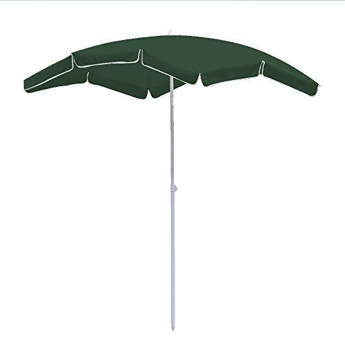 Hengda® Für Garten, Terrasse, Loggia, Balkon, Camping-Platz, Pool, Planschbecken 2*1.55m Grün Sonnenschirm Garten Schirm Marktschirm Ampelschirm Kurbel Schirm