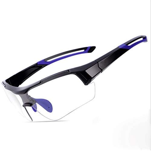Qinmo Schutzbrille mit klaren, beschlagfreien und kratzfesten Surround-Gläsern und rutschfesten Griffen für UV-Schutz. PC explosionssicheres Objektiv konfigurieren (Farbe : Blau)