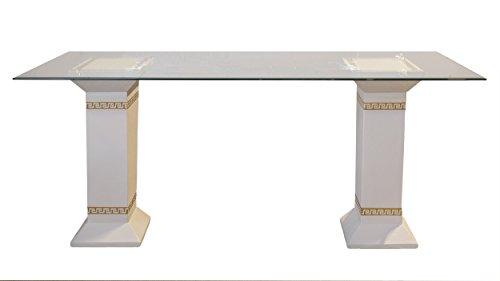 Esstisch Tafeltisch Küchentisch Marmortisch Versa Serie Mäandermuster