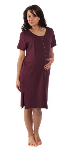 the-bamboo-birthing-shirt-berry-red-medium-pre-preg-uk-10-12-for-pregnancy-labour-breastfeeding