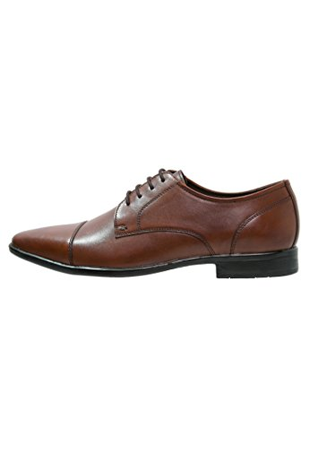Pier One Herrenschuhe Leder in Cognac Braun - Oxford, 43