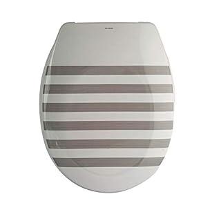 MSV Design WC Sitz, Absenkautomatik, Fast Fix/Schnellbefestigung, Befestigung mit Knopfdruck, Toilettensitz WC Deckel Klobrille