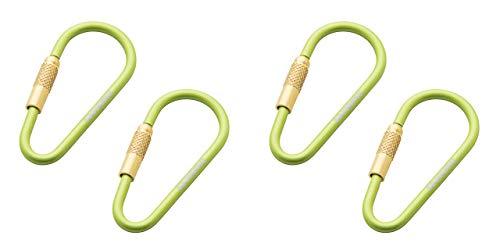 munkees 2 x Mini Link Karabiner Schlüsselanhänger - Ø 3 x 48 mm (2 Stück), Grün, Doppelpack, 320159