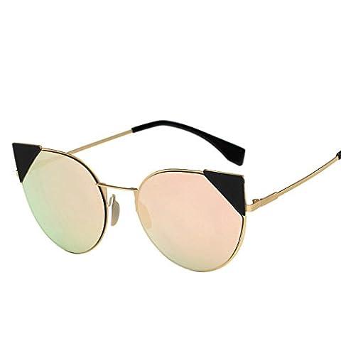 Culater® Femmes Hommes Lunettes Retro Vintage Aviator Miroir Lentille Voyage Lunettes de soleil (D)