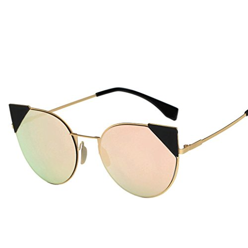 Mamum Femme Moderne Mode Miroir polarisées CatEye Lunettes de soleil Lunettes UV400Lunettes de sports de plein air Taille unique D zS3HI