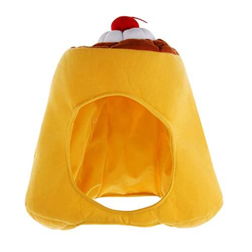 Kostüm Zu Pudding - Tubayia Neuheit Plüsch Pudding Hut Kappe Kopfbedeckung für Halloween Karneval Cosplay Party